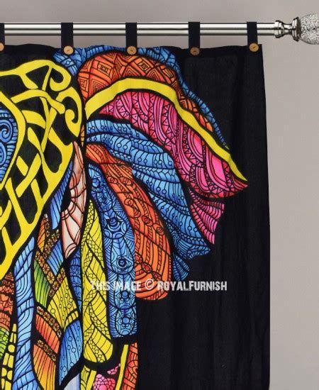 elephant tapestry curtain black multi tie dye big asian elephant tapestry curtain
