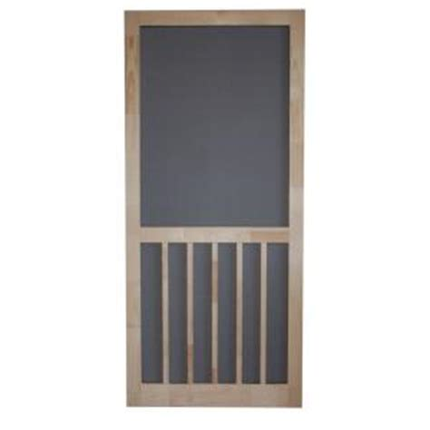 Home Depot Door Screens by Screen Tight 36 In X 80 In Timberline Wood Unfinished