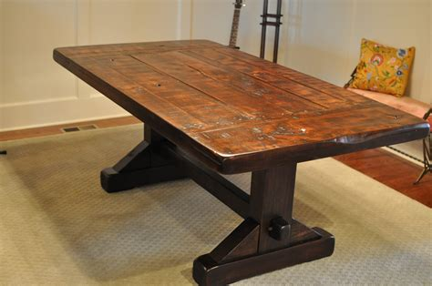 Handmade Dining Table - build rustic kitchen table best home decoration world class