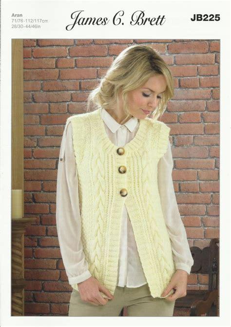 knitting pattern waistcoat c brett waistcoat aran knitting pattern jb225