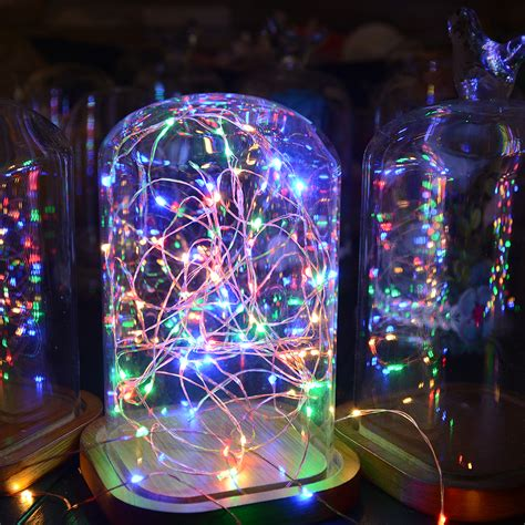 starry string lights lights on copper wire sunix waterproof led copper starry wire string light