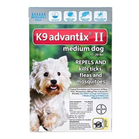 k9 advantix for dogs 11 20 lbs k9 advantix ii for dogs 11 20 lbs 6 pack teal vetdepot