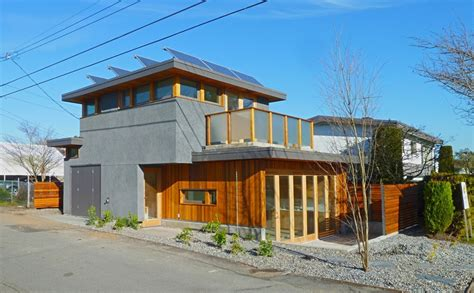net zero sips laneway house with solar