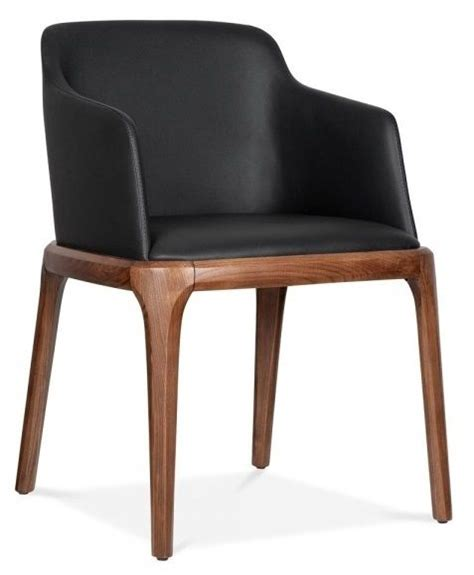 leather dining chairs with arms black alfonso cafe reality