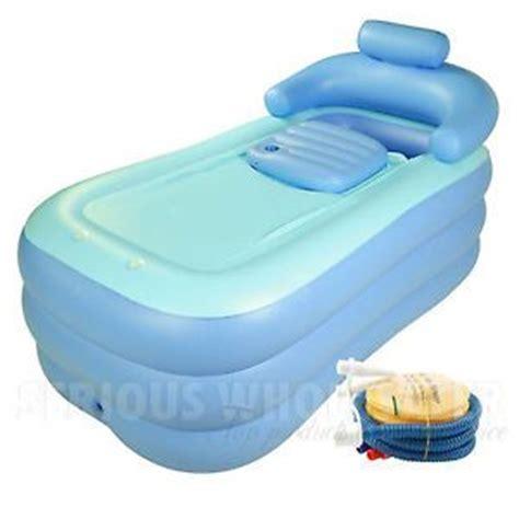 blow up bathtub details about us stock inflatable adult pvc folding
