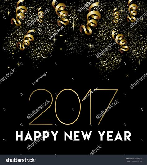 new year greeting gold happy new year 2017 greeting card design with gold