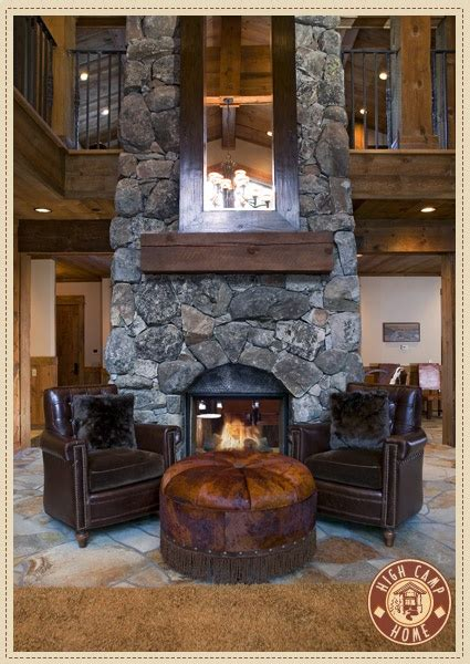 home design story rustic stove love the rustic fireplace with large mirror and leather furniture down home on the ranch