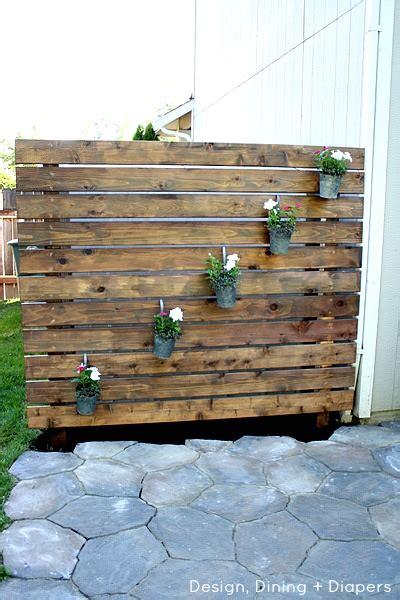 privacy wall for backyard diy patio privacy screens the garden glove