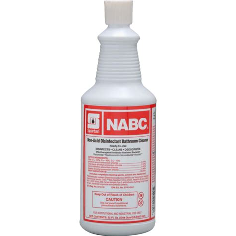 Non Acid Disinfectant Bathroom Cleaner by American Paper Twine Co Spartan Nabc Disinfectant