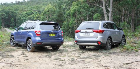 subaru outlander vs outback mitsubishi outlander v subaru forester suv comparison review