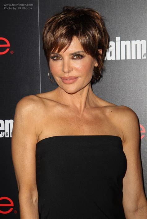 professional hair cuts for 50 year old women lisa rinna modern pixie haircut for a 50 years old lady