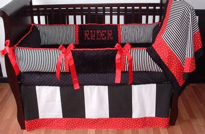 red and black crib bedding black white and red nursery
