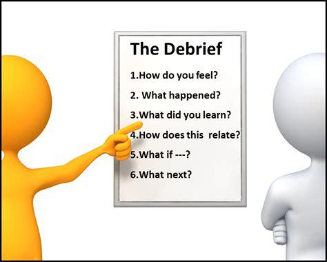 debriefing process template activity debrief speech coach