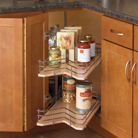 lazy susan pull out drawers knape vogt kidney shaped wood lazy susan with pull out