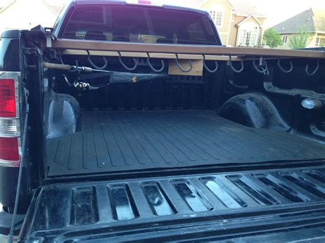 truck bed organizer diy diy fishing rod holder and pole rack for 5 foot truck bed