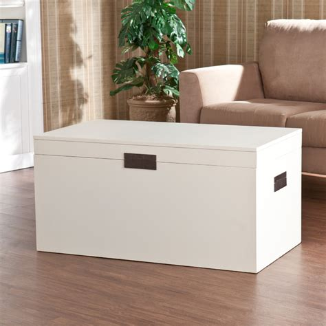 Barclay White Trunk Cocktail Table Contemporary Coffee Modern Trunk Coffee Table
