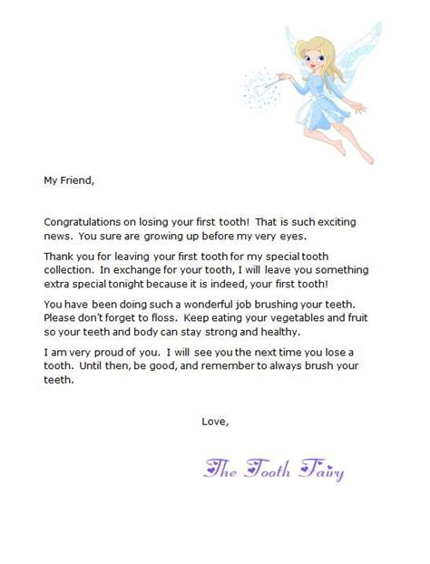 tooth letter template free letter from tooth tooth pg