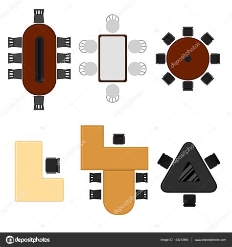 office floor plan top view stock illustration image 42916847 symbols for floor plan tables best free home design