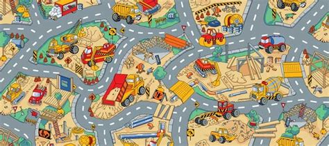 construction play rug pin by prokes on tractor room