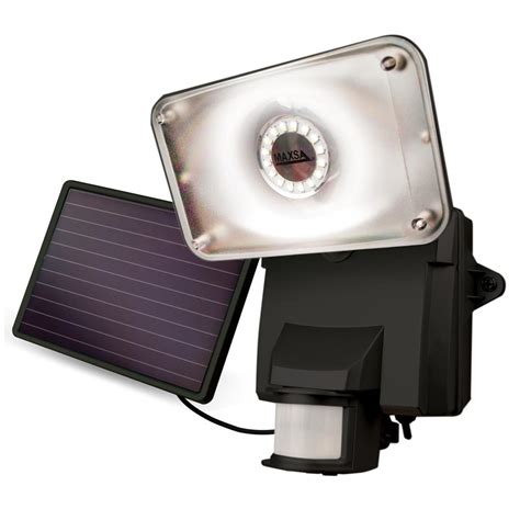 Motion Activated L by Maxsa 174 Motion Activated Solar Led Security Floodlight