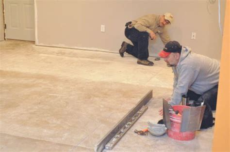 how to level a subfloor before laying tile one project
