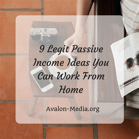 9 legit passive income ideas you can work from home miss