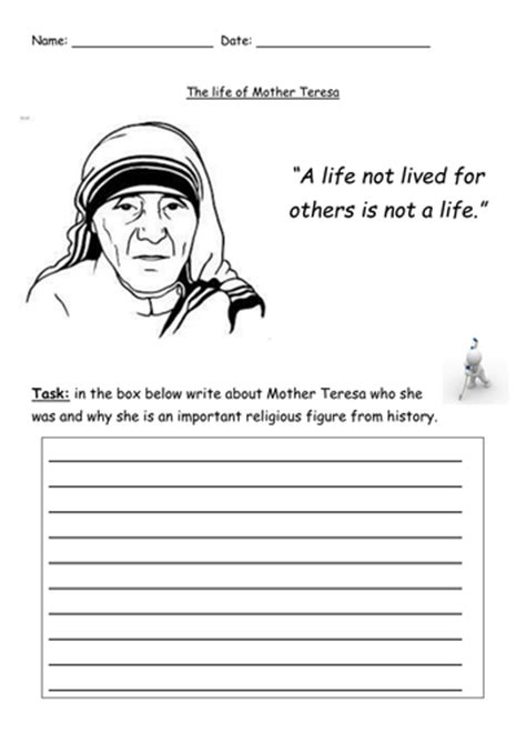 mother teresa biography powerpoint the life of mother teresa by rbagley teaching resources