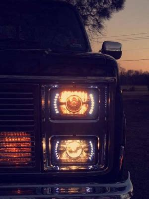 1986 chevy c10 lights chevy c10 1981 1987 led black sealed beam projector