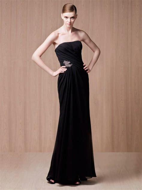 Strapless Floor Length Dress by Strapless Black Low Back Floor Length Evening Dress 2202269 Weddbook
