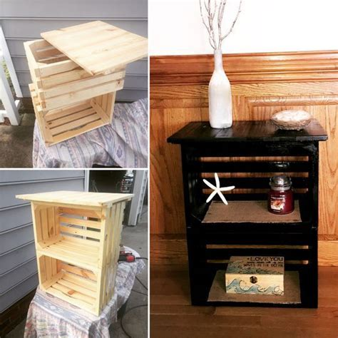Wooden Crate Nightstand 25 Best Ideas About Crate Nightstand On Pinterest Crate Table Diy Nightstand And Nightstand