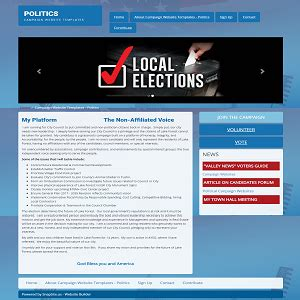 Caign Websites Political Caign Websites By Snapsite Marketing Election Website Templates Free