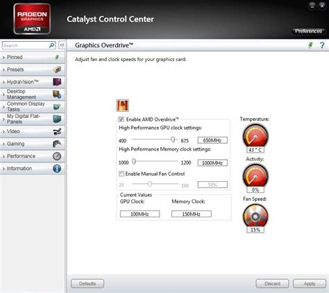 amd gpu fan control overclock your cpu gpu and ram pcworld