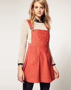 Transition Wear Cutest Pinafore Dress by Asos Midi Skirt In Suede With Pinafore Bodice 70s