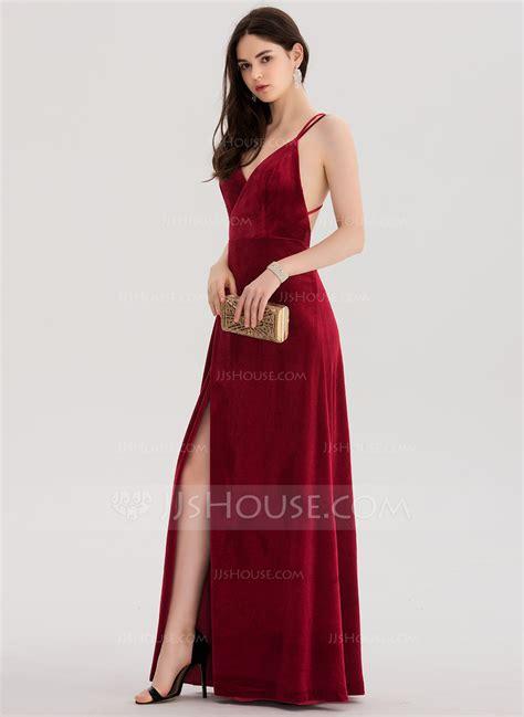 chagne color prom dress a line princess v neck floor length velvet prom dresses