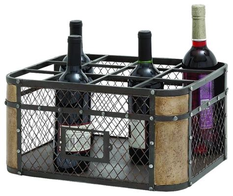 Decorative Wine Racks For Home by Metal Wire Basket Wine Holder Large 12 Bottle Home Kitchen
