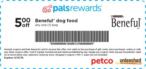 dog food coupons for petco 5 off beneful dog food at petco
