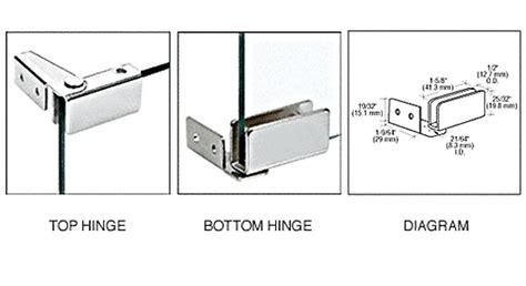 Crl Chrome Recess Mount Glass Door Hinges Gdh86ch Crl Glass Door Hardware