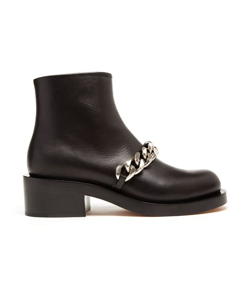 tan biker boots lyst givenchy laura chain biker boots in brown