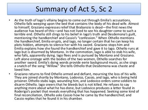 Themes In Othello Act 5 Scene 2 | themes in macbeth act 5 scene 5 othello as a tragic hero
