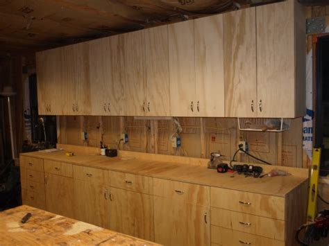 shop kitchen cabinets building shop cabinets using bed woodoperating plans to