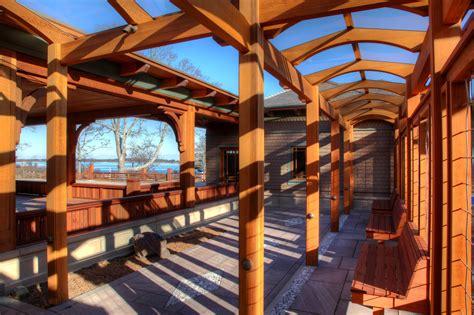 decorative beams   craftsman style arbor