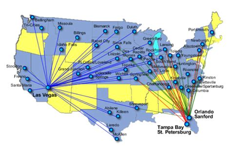 allegiant air route map the cranky flier who the f is allegiant air