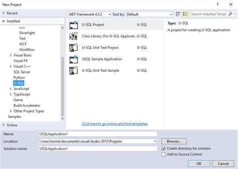 visual studio 2012 ssis project template gallery