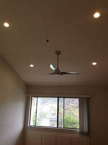 Recessed Lighting With Ceiling Fan Led Recessed Lighting Ceiling Fan Installed Custom