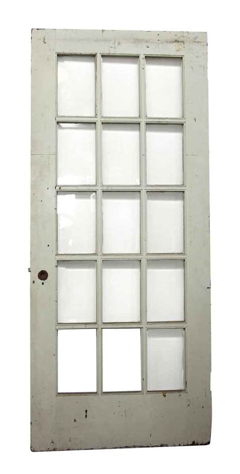 15 Beveled Glass Panel White Door Olde Good Things White Interior Doors With Glass Panel