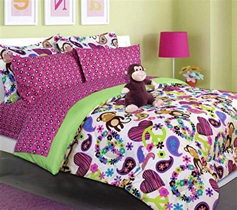 size monkey bedding tween bedding fabian monkey bed in a bag