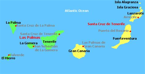 map of canary islands canary islands spain