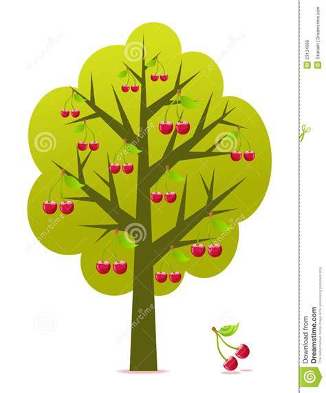 cherry tree vector cherry tree vector stock vector illustration of vitamins 23134966