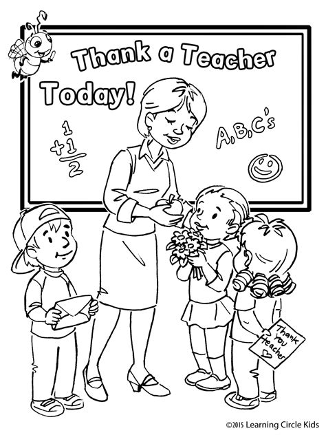 free kids coloring page for teacher appreciation day http