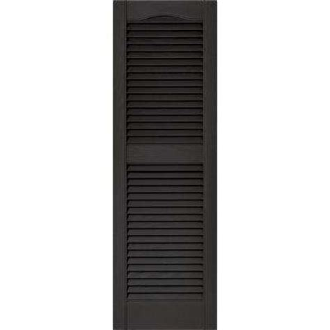 black shutter louvered exterior shutters the home depot
